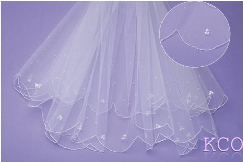 V0238 White Communion Veil